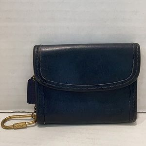 Coach VERY RARE Vintage Leather Wallet Navy 7219